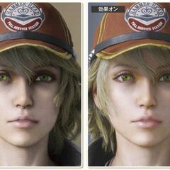 Cindy's skin shaders turned off (left) and on (right).