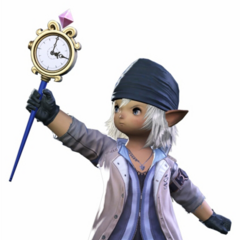 Render of Snow costume with Mog's Staff.