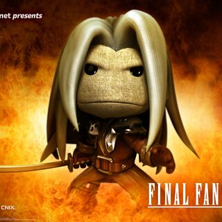 The Sephiroth costume as it appears in a <i>LittleBigPlanet 2</i> advertisement.
