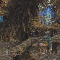Concept art in <i>Final Fantasy X-2</i>.