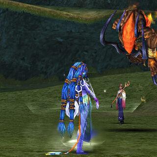 Shiva battled on the Calm Lands.