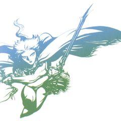 Раскрашенная версия иллюстрации Амано для логотипа к римейку игры.