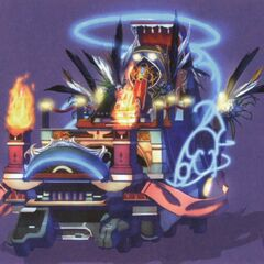 The float concept on which Sorceress Edea rode during the festival.