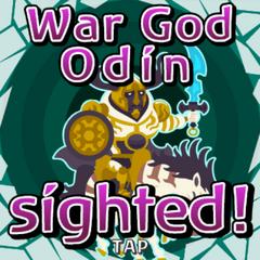 War God Odin sighted inside Gate Crystal.