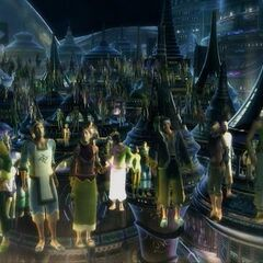 Image of Zanarkand during the concert in <i>Final Fantasy X-2</i>.