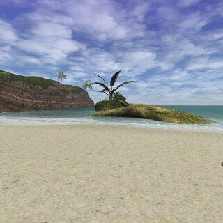 A view of Flourishing Island in Ceizak Battlegrounds.