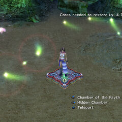 Yuna in the cavern in <i>Final Fantasy X-2</i>.