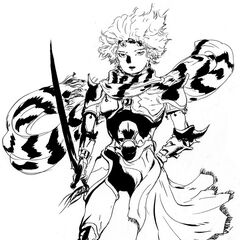 Amano's illustration of Ceodore for <i>Complete Collection</i>.