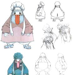 Quina Quen face and body concept art.