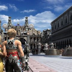 Penelo with Vaan at the parade.
