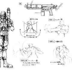 Shinra infantryman, artwork by <a href=