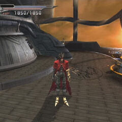 The <i>Shera</i> in <i>Dirge of Cerberus -Final Fantasy VII-</i>.