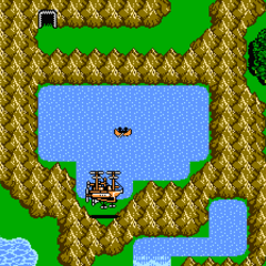 Lake Dohr on the world map (NES).