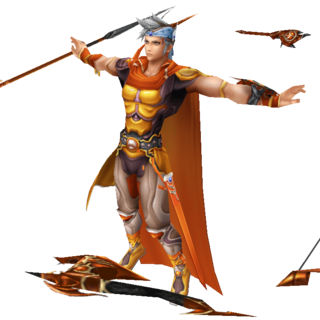 Firion's first alt outfit EX Mode in <i>Dissidia Final Fantasy</i>, based on Amano's artwork.