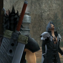 Sephiroth laughs at the thought of having a father.