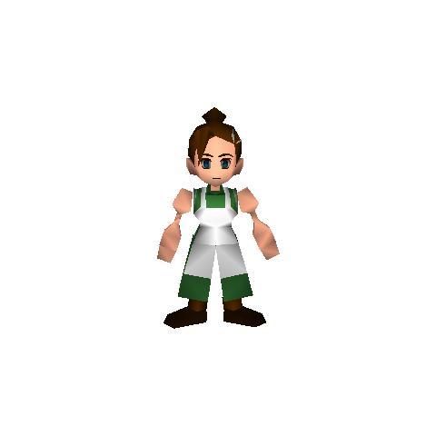 Field model of Elmyra in <i>Final Fantasy VII</i>.