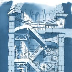 Concept artwork of the castle tower.