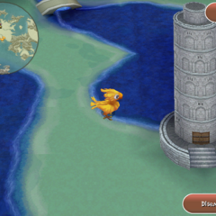 Render of Tower of Trials in the overworld (iOS).