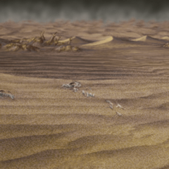 Ruined desert battle background in <i><a href=