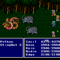 Rydia as a toad in <i>Final Fantasy IV</i> (SNES).