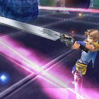 Bartz wielding the Revolver in <i>Dissidia Final Fantasy</i>.