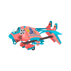 <i>Tiny Bronco'</i>s airship model in <i>Final Fantasy Airborne Brigade</i>.