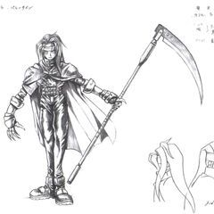Early artwork of Vincent by Tetsuya Nomura.