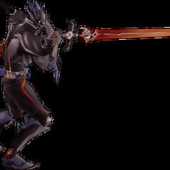 Alt outfit EX Mode as a Dark Knight.