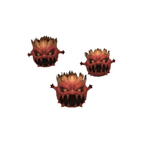 Bomblike clusters.