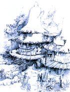 Black Mage Village FFIX Art 1