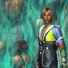 Tidus at the Fayth Scar on Mt. Gagazet.