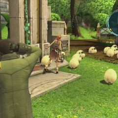 Sheep in Nautilus Park in <i>Final Fantasy XIII</i>.