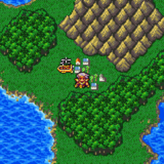 Agart on the World Map (GBA).