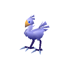 Dark blue racing Chocobo from <i><a href=