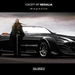 Regis and the car, Regalia.