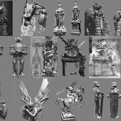Burmecian statues.