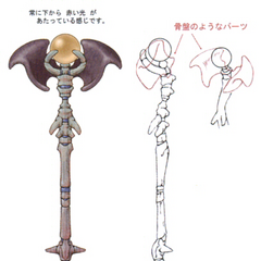 Concept artwork for the High Mage Staff.