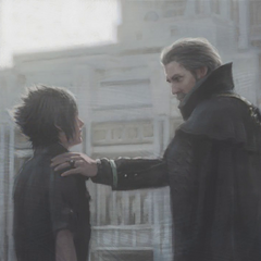 Concept artwork of Regis and Noctis.