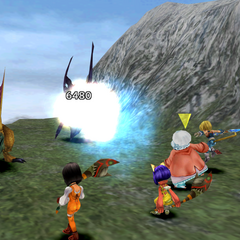 Zidane attacking with a thief sword in <i><a href=