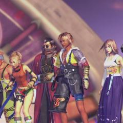 The party on the <i>Fahrenheit</i> in <i>Final Fantasy X</i>.