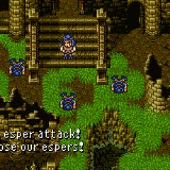 Esper attack on the Ancient Castle (GBA).