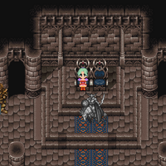Petrified Odin in the throne room (iOS/Android/PC).