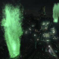 The Sister Ray's charging as seen in <i>Final Fantasy VII: Advent Children</i>.