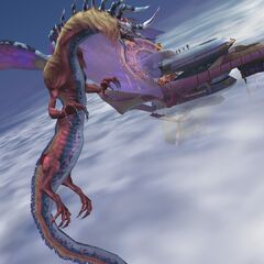 Evrae attacks the airship.