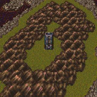 Cultists' Tower on the World Map (SNES).