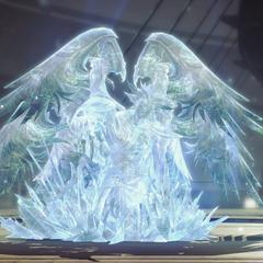 Cid Raines in crystal stasis.