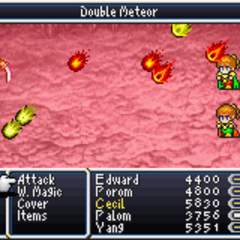 Double Meteor <i>Final Fantasy IV</i>(GBA).