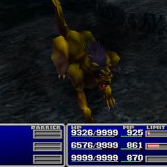 King Behemoth in battle.