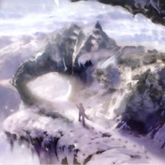 Modeo mountains artwork.