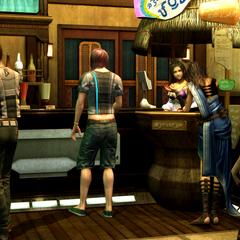 Inside Lebreau's bar.